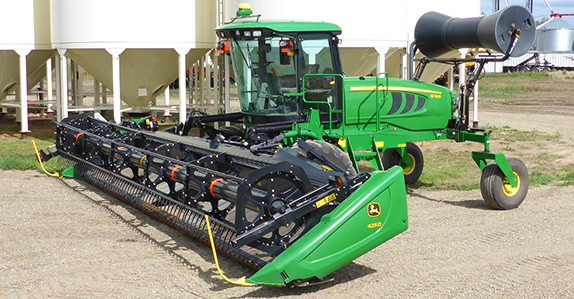 2014 John Deere W150 35' swather for sale at Ritchie Bros. Auctioneers