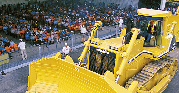 Equipment on the ramp at a Ritchie Bros. auction in Brisbane, April 1999.