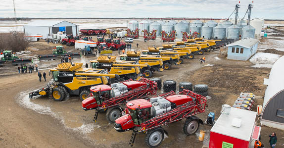 Farm equipment for sale at a Ritchie Bros. unreserved farm auction