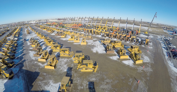 Huge selection of equipment and trucks at Ritchie Bros. Edmonton auction