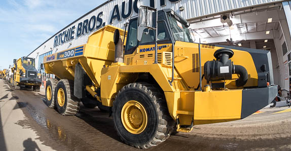 At Ritchie Bros. Orlando auction in 2016, we sold this Komatsu articulated dump truck