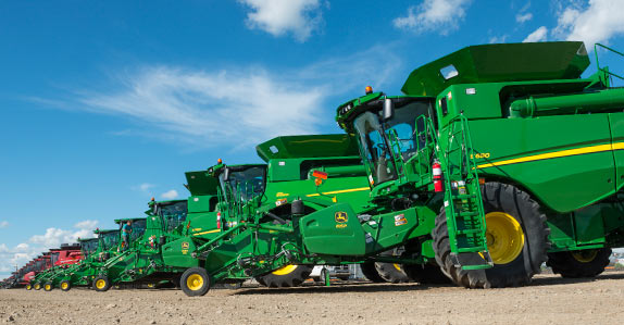 Combines being sold at a Ritchie Bros. auction