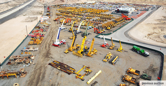 Aerial shot from previous Ritchie Bros. Las Vegas auction.