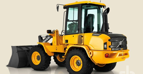 A Volvo compact wheel loader available at Waste Expo charity auction.