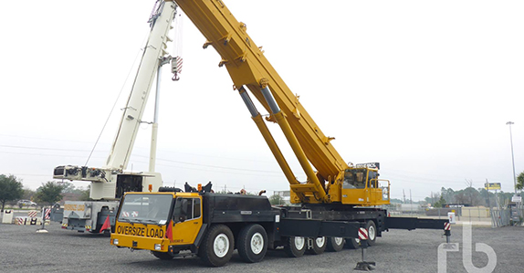 this 1995 Liebherr 360-ton 14x8x10 all-terrain crane is selling in Houston (Feb. 15-16)