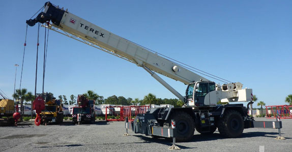 2014 Terex RT780 rough terrain crane selling in Ritchie Bros. Houston auction