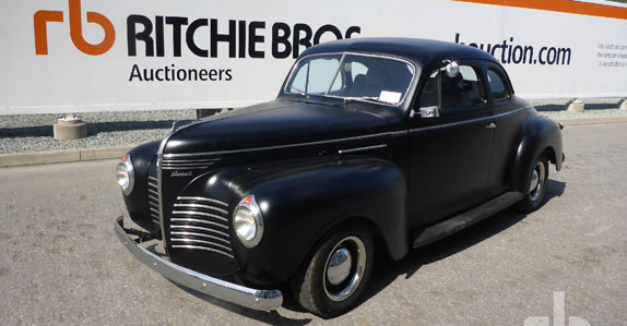 1940 Plymouth 2-door coup sold at Ritchie Bros. auction