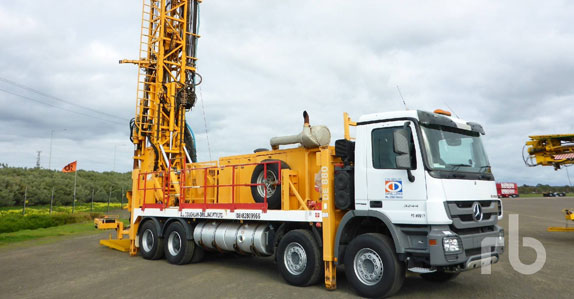 2012 Sandvik DE880-110 truck-mounted hydraulic rotary drill sold in auction by Ritchie Bros.