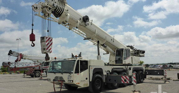 2007 Terex AC140 170-ton 10x8x8 all-terrain crane sold in auction by Ritchie Bros.