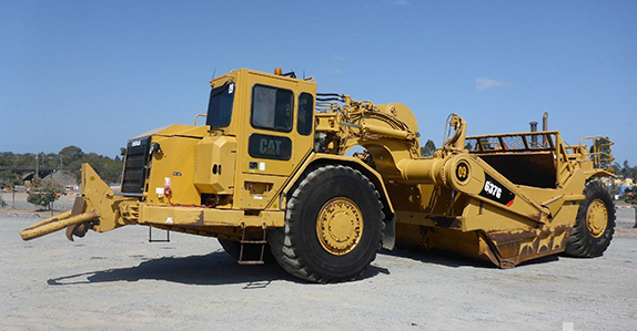 2007 Caterpillar 637G motor scraper sold by Ritchie Bros.