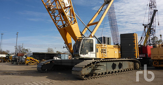 2012 Liebherr LR1300SX 330 ton self-erecting crawler crane sold in auction by Ritchie Bros.