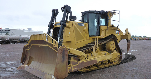 Caterpillar D8T dozer sold at a Ritchie Bros. heavy equipment and truck auction.
