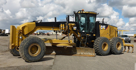 Caterpillar 16M VHP motor grader sold at Ritchie Bros.