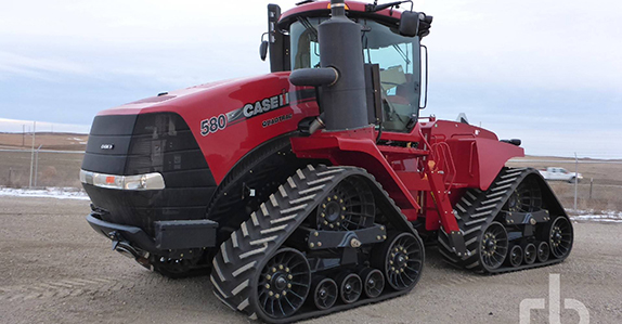 2014 Case IH 580 Quadtrac track tractor sold by Ritchie Bros.