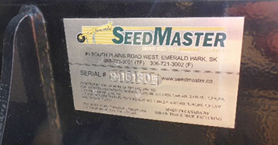 Serial number on an air drill sold by Ritchie Bros.
