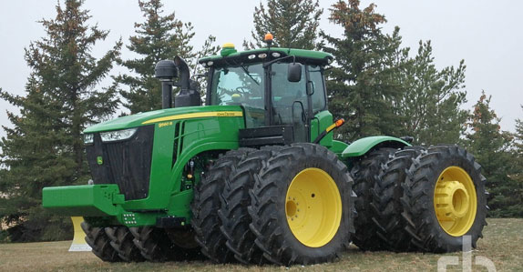 2012 John Deere 9560R 4WD tractor sold by Ritchie Bros. Auctioneers