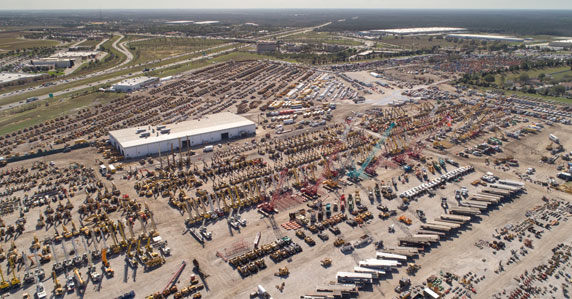 drone view of an auction site