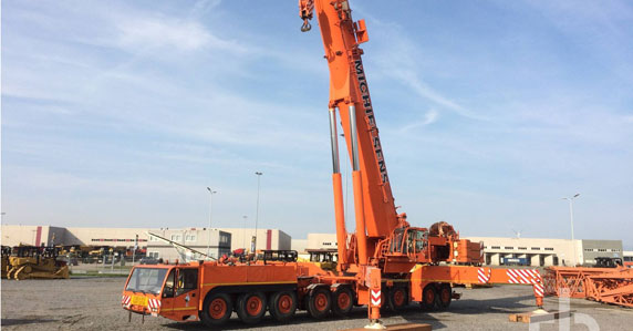 2003 Demag AC700 700-ton all terrain crane sold by Ritchie Bros.