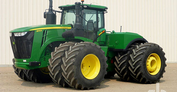 2016 John Deere 9570R 4WD tractor sold by Ritchie Bros. Auctioneers