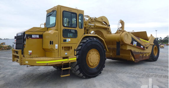 2007 Caterpillar 631G motor scrapers sold by Ritchie Bros.