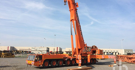 2003 Demag AC700 700 ton all terrain crane sold at a Ritchie Bros. heavy equipment and truck auction.