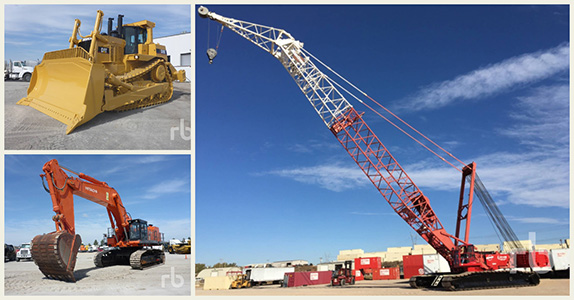 Top 5 construction equipment at Ritchie Bros.