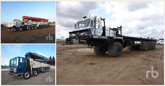 Truck tractors and work trucks sold at Ritchie Bros.