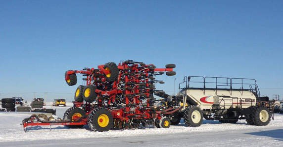 2018 Bourgault 3320PHD air drill sold at Ritchie Bros. auction
