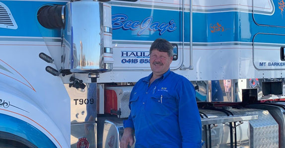 Barry Jungfer of Bee Jay's Haulage