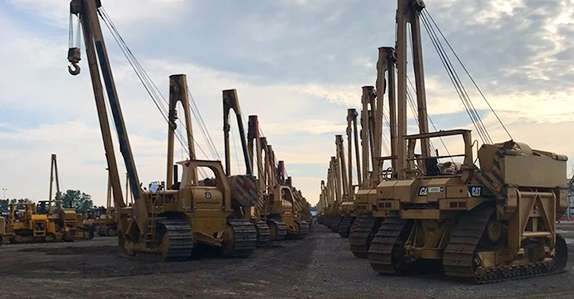 Ritchie Bros. Columbus, OH pipeline construction equipment auction.