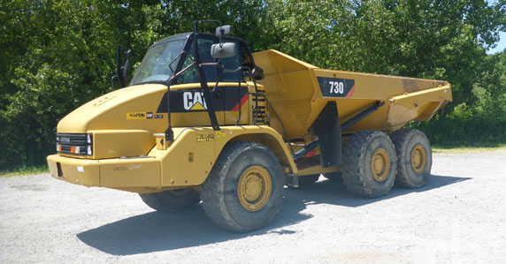 2014 Caterpillar 730 6x6 articulated dump truck sold by Ritchie Bros. Auctioneers