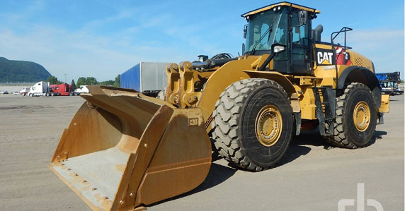Caterpillar 980M wheel loaders sold by Ritchie Bros. Auctioneers