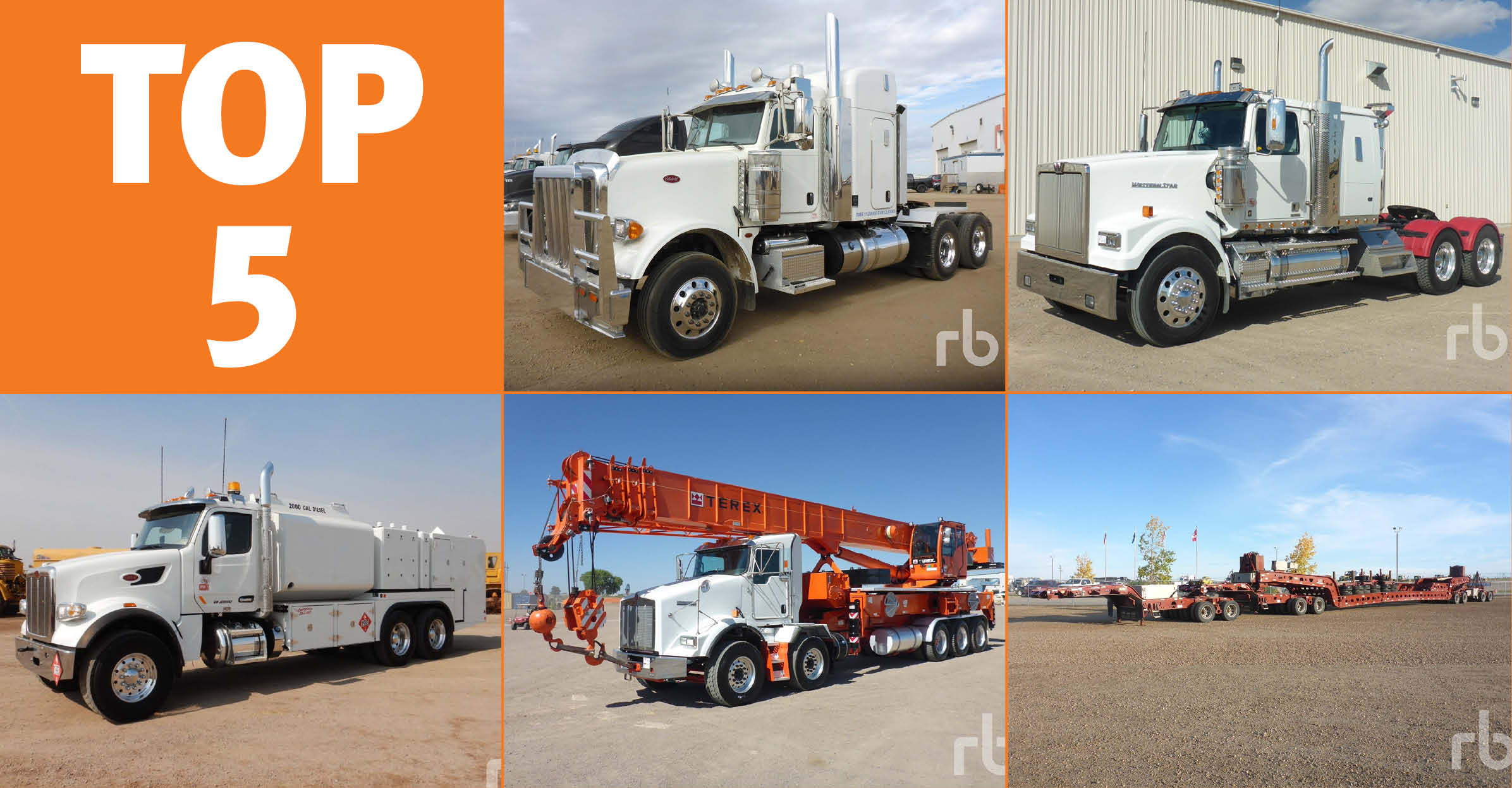 Trucks and transport equipment for sale at Ritchie Bros.