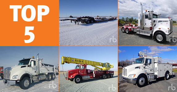 Used transportation equipment sold by Ritchie Bros. Auctioneers