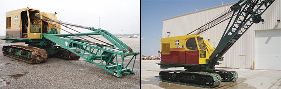 Before and after of a Bucyrus Erie