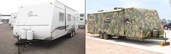 Before and after of a Trailer