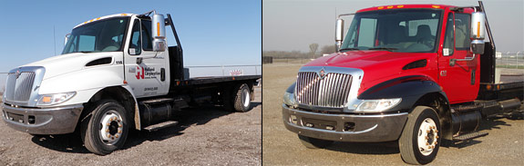 Before and after of a Truck