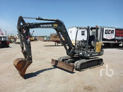 2012 VOLVO EC55C Mini Excavator (1 - 4 9 Tons) Lot #479