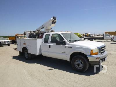 2002 FORD F350 Extended Cab 4x4 w/MTI A28D Bucket Truck | Ritchie