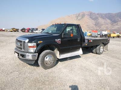 2009 FORD F350 XLT 4x4 Flatbed Truck | Ritchie Bros  Auctioneers