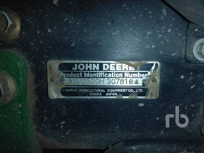 Detail photo of 2007 John Deere 2520 from Construction Equipment Guide
