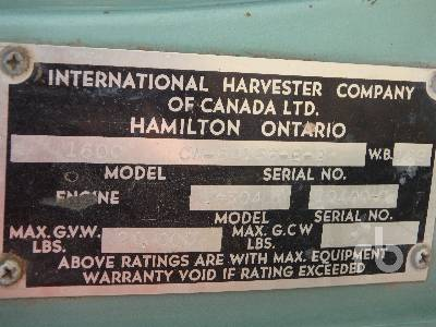 Detail photo of 1966 International 1600 from Construction Equipment Guide