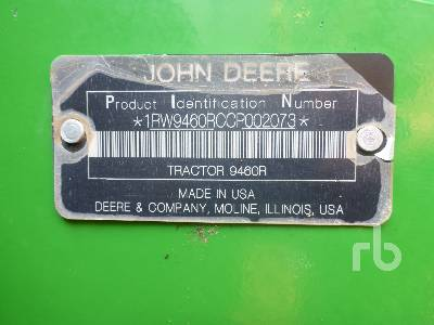Detail photo of 2012 John Deere 9460R from Construction Equipment Guide