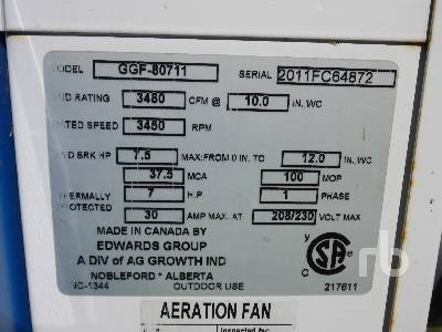 Detail photo of 2011 EDWARDS GRAIN GUARD GGF 80711 from Construction Equipment Guide