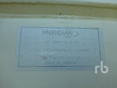 Detail photo of  MERIDIAN GM4000A10IJMW05 from Construction Equipment Guide