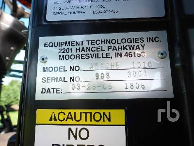 Detail photo of 2008 Apache AS1010 from Construction Equipment Guide