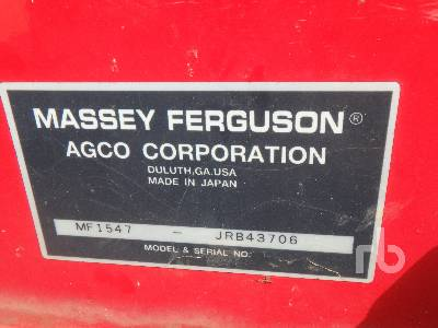 Detail photo of 2006 Massey Ferguson 1547 from Construction Equipment Guide
