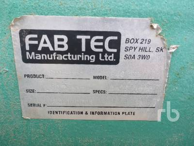 Detail photo of  Fab Tec Inc 840 XL from Construction Equipment Guide