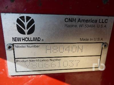 Detail photo of 2008 New Holland H8040 from Construction Equipment Guide
