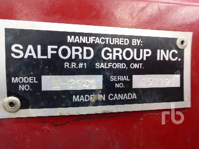Detail photo of 2015 SALFORD I2141 from Construction Equipment Guide